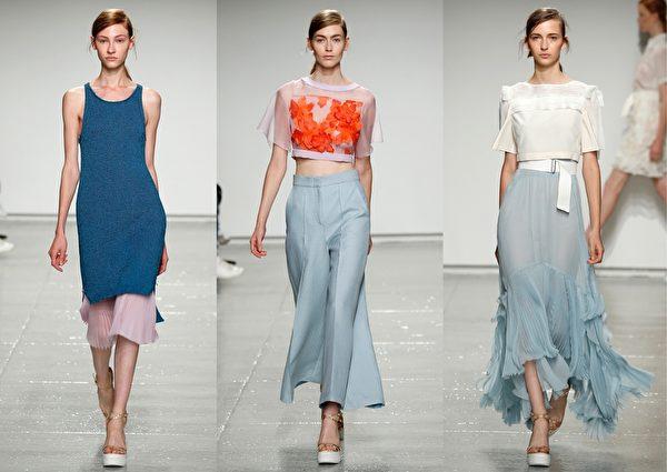 2015紐約春夏時裝週,紐約設計師Rebecca Taylor品牌秀。(大紀元合成圖/Getty Images)