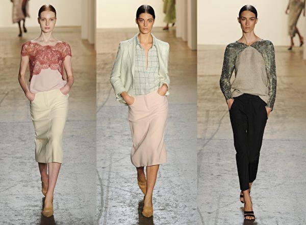 2015紐約春夏時裝週,美國設計師Wes Gordon品牌秀。(大紀元合成圖/Getty Images)