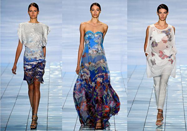 2015紐約春夏時裝週,韓國設計師李相奉品牌秀。(大紀元合成圖/Getty Images)