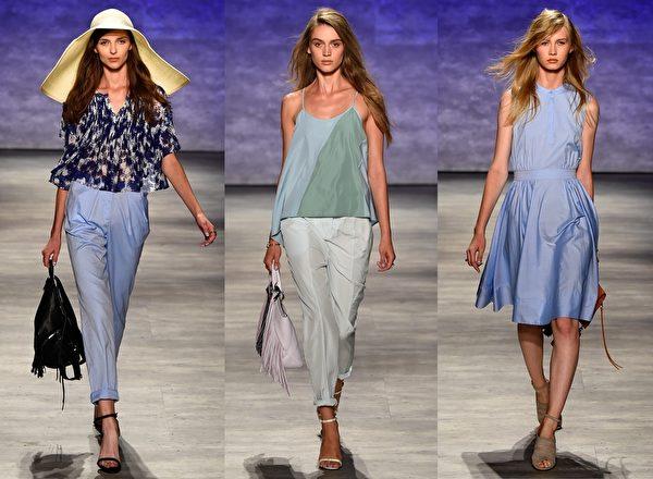 2015紐約春夏時裝週,Rebecca Minkoff品牌秀。(大紀元合成圖/Getty Images)
