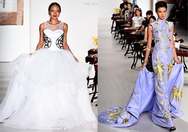 2015紐約春夏時裝週,台灣設計師馬蘭·布萊頓(Malan Breton)品牌秀。(大紀元合成圖/Getty Images)