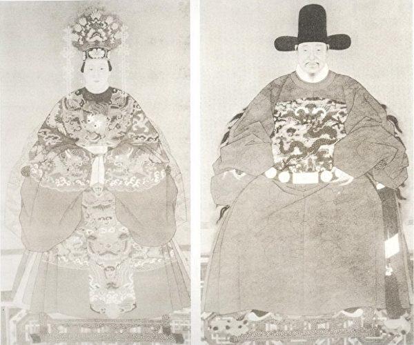 明朝贵族男女画像(新唐人)