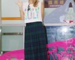 倖田來未參加《a-nation夏日聯合國》台灣場於2014年9月12日在蒞臨台北松山機場。(黃宗茂/大紀元)