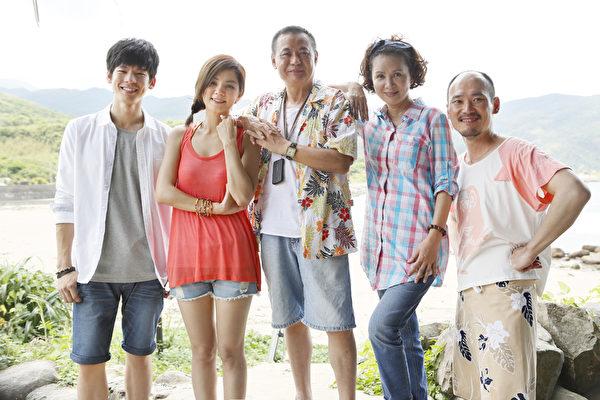 片中演员左起:林柏宏、Ella陈嘉桦、蔡振南、林美照、应蔚民。(齐石提供)