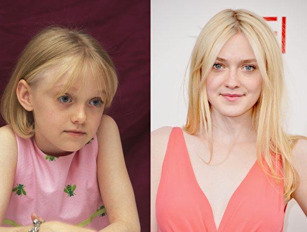 《世界大战》《活在当下》女星达科塔·范宁(Dakota Fanning)年方20,演艺生涯却已有15年。值得一提的是,她的妹妹——16岁的艾丽·范宁(Elle Fanning)也是演员,新近出演了《黑魔女:沉睡魔咒》中的睡美人。(大纪元合成图)