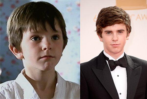 《查理和巧克力工厂》《声梦奇缘》英国童星弗莱迪·海默(Freddie Highmore)星途顺遂,年已22岁的他,帅气的外形不失天真。(大纪元合成图)
