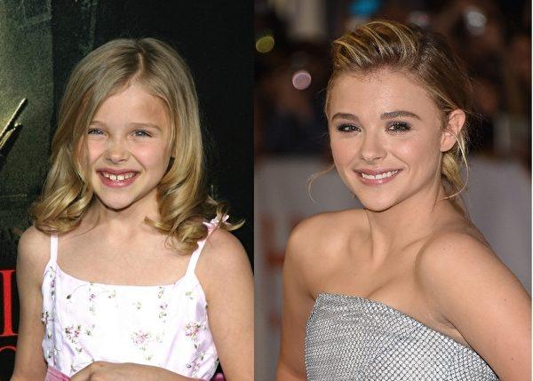 科洛·莫瑞兹(Chloë Moretz)6岁出道,17岁的她已出演过《海扁王》《魔女嘉莉》等多部电影。(大纪元合成图)