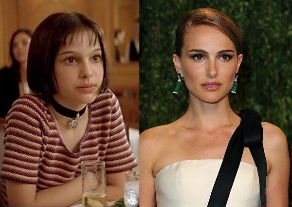 《这个杀手不太冷》中的小女孩娜塔莉·波特曼(Natalie Portman)已变成熟,但气质未改。这位哈佛高材生2011年凭借《黑天鹅》获封奥斯卡影后,并且已经当妈妈。(大纪元合成图)