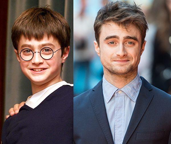 丹尼尔·雷德克里夫(Daniel Radcliffe)10岁出道,以主演《哈利·波特》系列电影成名,近年略显憔悴。(大纪元合成图)