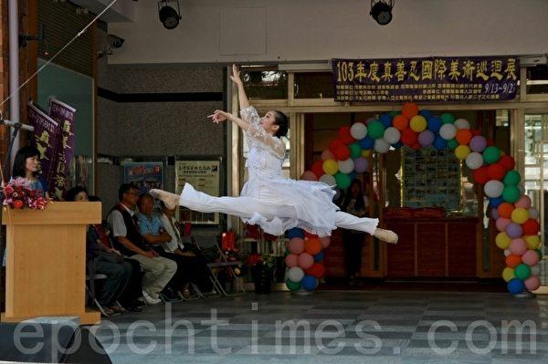 王怡方跳跃、转身、翻腾以及旋转的动作,令人惊艳。(许享富 /大纪元)