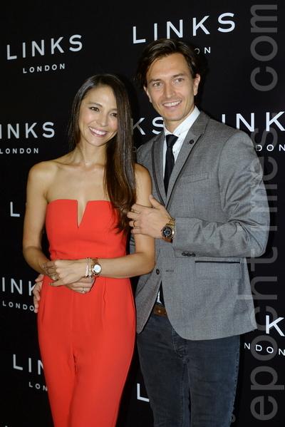 名模Cara G和丈夫Jesper M。(宋祥龍/大紀元)