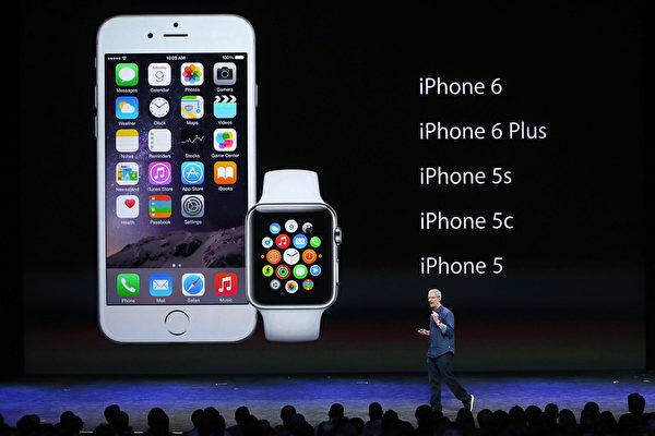 市调机构透过移动数据流量追踪发现,iOS装置中市占率排名第一的是iPhone 6。(Photo by Justin Sullivan/Getty Images)