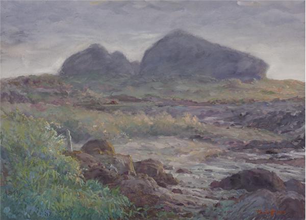 陈品华《岛上的某一天》_76×56cm_1993(图:中华亚太水彩艺术协会提供)