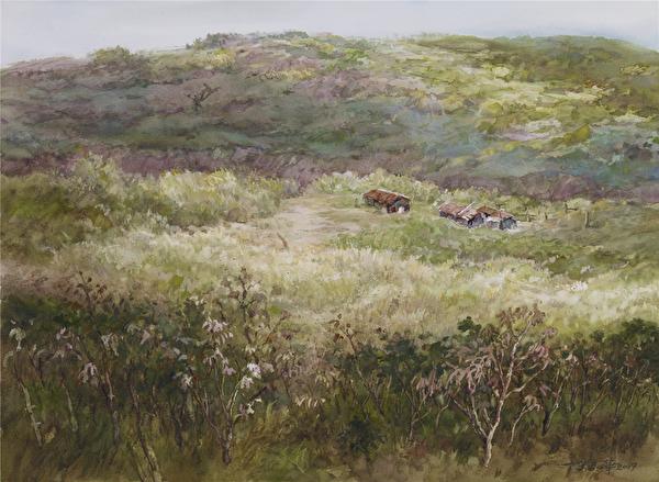 陳品華《它們的故事二》 76×56cm 2009(圖:中華亞太水彩藝術協會提供)