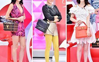 王思佳、蓝心湄、刘真在节目上分享包款。(TVBS提供/大纪元合成)