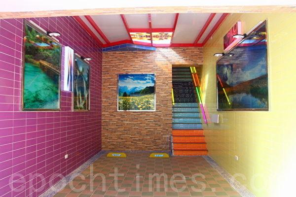 知本城每房各自拥有不同艺术玻璃景观的私人车库。(赖友容/大纪元)