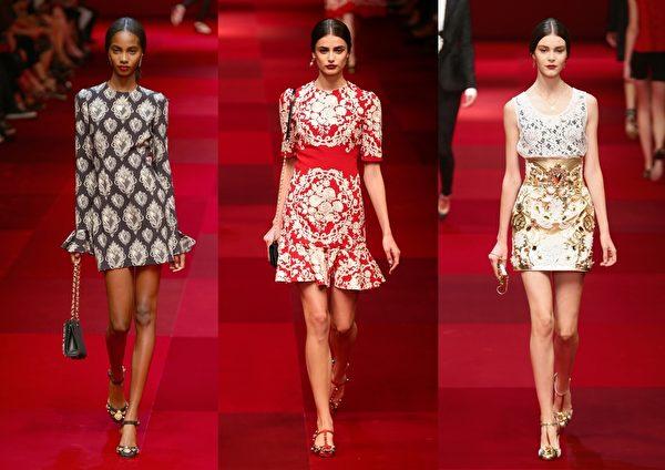 米兰2015春夏时装周,Dolce & Gabbana秀。(Getty Images/大纪元合成)