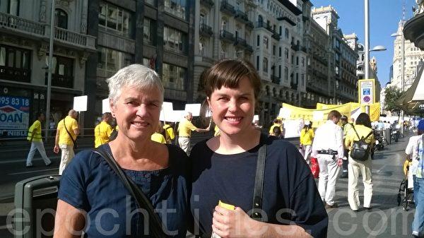 挪威的Ingrid和母亲为能了解真相感到高兴。(安然/大纪元)