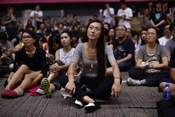 "2014年10月5日,香港铜锣湾的""占中""集会现场。(PEDRO UGARTE/AFP/Getty Images)"