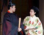 2014年10月5日,典子公主与千家国麿在出云大社完婚。(JIJI PRESS/AFP/Getty Images)