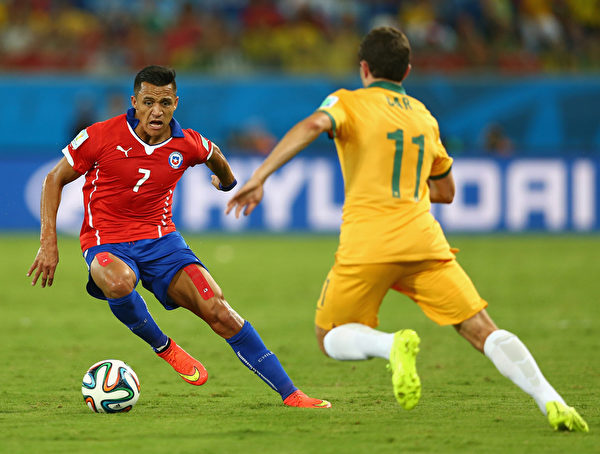 图:智利球星桑切斯(左)。 (Clive Brunskill/Getty Images)