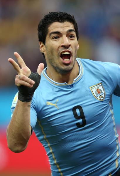 图:乌拉圭球星苏亚雷斯。(Richard Heathcote/Getty Images)