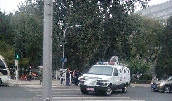 10月20日,中共十八届四中全会在北京召开,当局高度戒备。(访民提供)