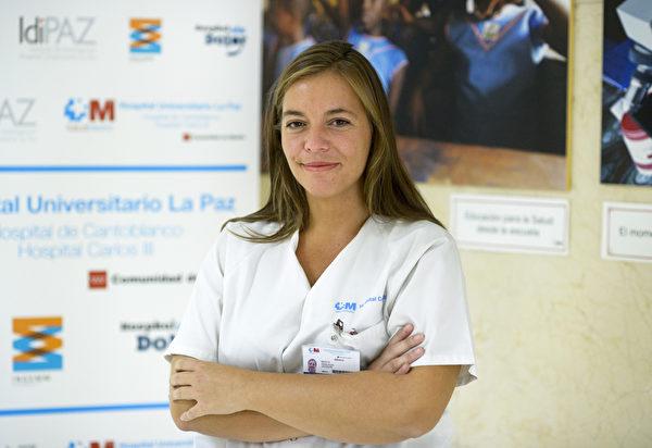 西非以外第一个感染伊波拉病毒的西班牙护士德雷莎.罗米洛(Teresa Romero Ramos)初步检查已痊愈。(AFP)