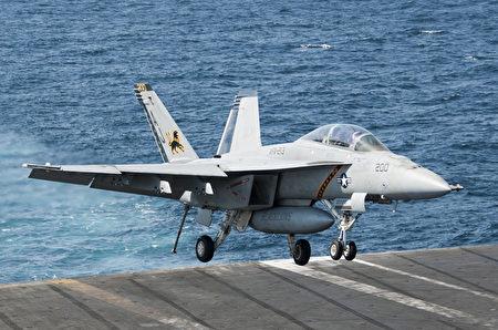 美国海军的F/A-18F超级大黄蜂战机。(AFP)