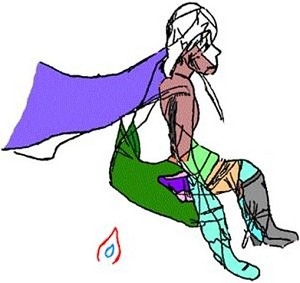 法国拉马什洞窟发现穿着披肩的少女图(图片提供:Jiri Mruzek)