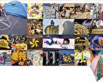 """""""雨伞运动""""至今刚满一个月,为争取真普选,香港人不再冷漠,重拾人与人之间互助互爱互让的""""狮子山精神"""",有些集会区俨然成了守望相助的小社区,还掀起一场""""艺术大爆炸""""。(大纪元合成图片)"""
