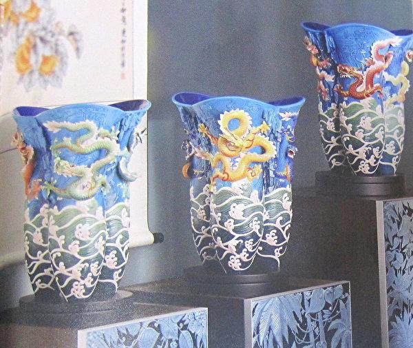 祥龍瓷瓶「尊榮」,因其傳遞出文化創作的力度而令觀者感動。(鍾元翻攝/大紀元)