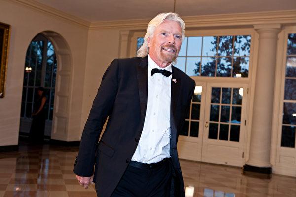 英国维珍集团(Virgin Group)创办人理查.布兰森(Richard Branson),20岁时,开设了他的第一家唱片邮购公司。(Brendan Hoffman/Getty Images)