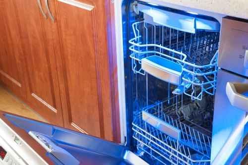 研究顯示,60%以上的家用洗碗機中含有各種真菌。其中洗碗機門的墊圈是真菌生長的地方。(fotolia)