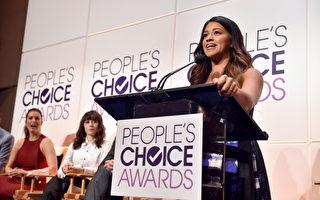 《处女情缘》女星吉娜•罗德里格兹。(Kevin Winter/Getty Images for The People's Choice Awards)