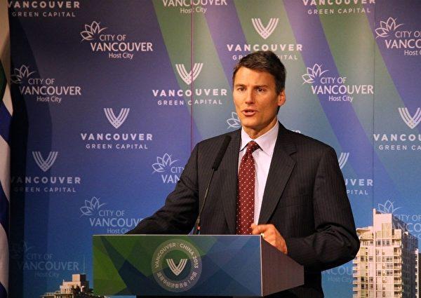 現任市長、偉景溫哥華市長競選人羅品信 (大紀元圖片)