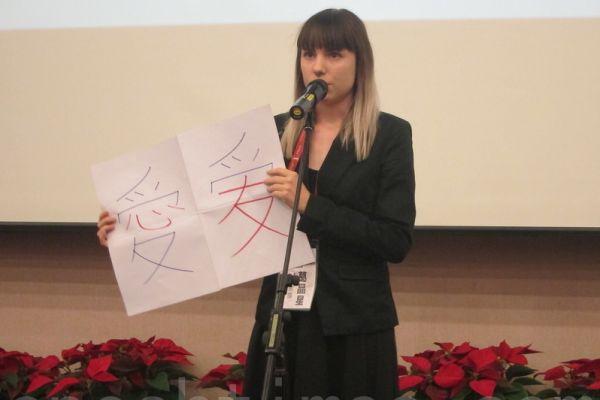 在中国大陆生活超过20年的莫塞(David Moser)认为学习普通话,不仅对外国人来说是难事,对中国人而言也不是易事。图为参加2014年台湾外籍学生华语文演讲比赛的参赛者。(锺元/大纪元)