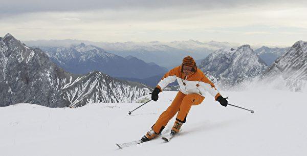 德国楚格峰是滑雪圣地。(Sandra Behne/Getty Images)