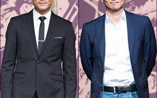 演员郭富城与冯德伦11月12日在台北出席金马评审团记者会。(陈柏州/大纪元合成)