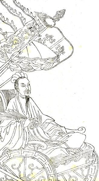 唐太宗与李靖在《唐太宗李卫公问对》中,多次提到诸葛亮的治军之法与八阵图,给予了极高的评价。(维基百科公共领域)