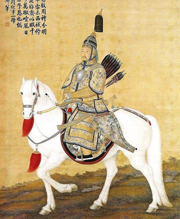 康熙皇帝文武双全,既能上马左右开弓,御驾亲征,又善于管理,能治国安邦。(维基百科公共领域)