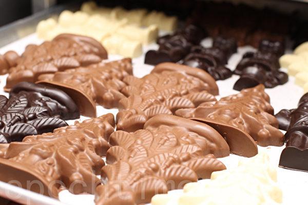 """Kron Chocolatier""出品的巧克力全部由手工制作。(张学慧/大纪元)"