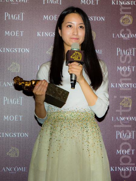 梁婷婷凭借《绣春刀》获颁最佳造型设计奖。(许基东/大纪元)