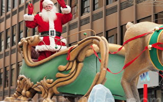 組圖:30萬人同歡樂 蒙特利爾迎聖誕老人(1)
