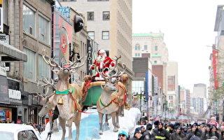 蒙特利爾聖誕大遊行 天國樂團受到市民及華人盛讚