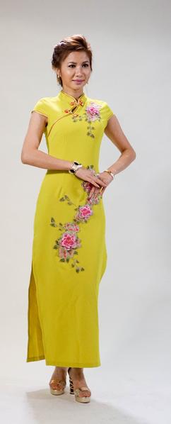 旗袍——体现中国传统女性的柔美。(蒋凯/大纪元)