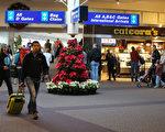 今年感恩節(11月27日),美國天氣將重複去年,與風、雨、雪相伴,約3000萬美國人的出行計劃將受到影響,多個城市出現航班延誤和道路受阻的現象在所難免。圖:2013年11月27日美國鹽湖城國際機場內的旅客。(George Frey/Getty Images)