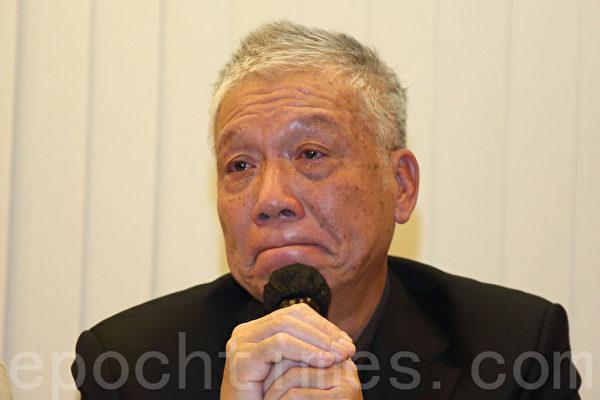 朱耀明牧師對年青人被打得頭破血流感到痛心,為香港覺得悲哀。(潘在殊/大紀元)