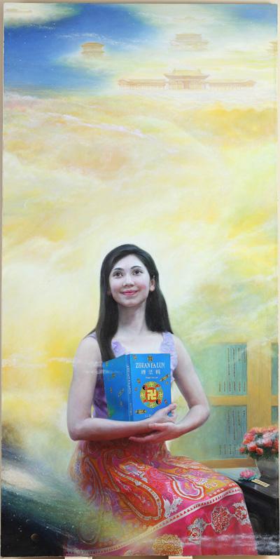 中国画家王晶的画作《已溶法中》从参赛的160多幅油画作品中脱颖而出,获得银奖。(王晶提供)