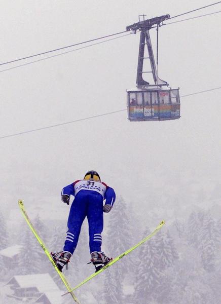 德国奥博斯多夫滑雪和缆车。(Peter Schatz/Bongarts/Getty Images)